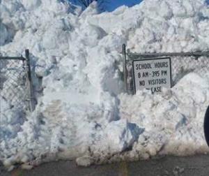Pic of snow on playground